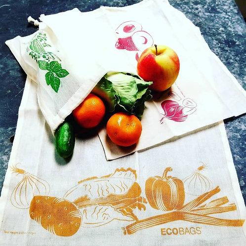 ECOBAGS 3-PIECE PRODUCE & BULK BAG SET