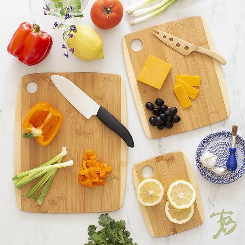 3 pc Two-Tone Cutting Board Set