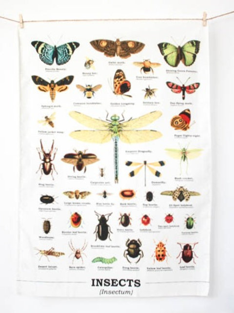 Biodiversity Insects Tea Towel