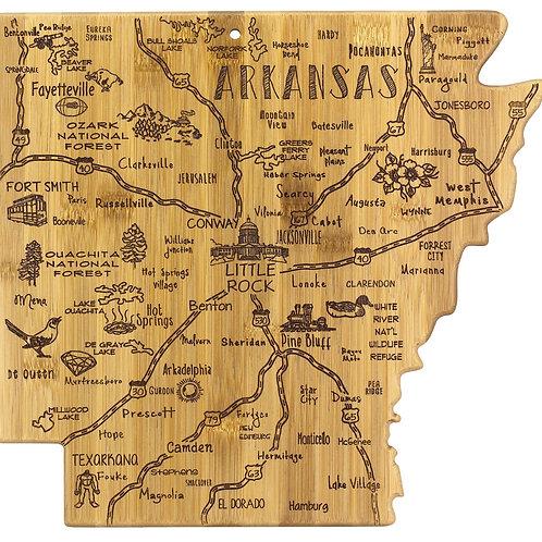 Arkansas State Bamboo Cutting/Serving Board