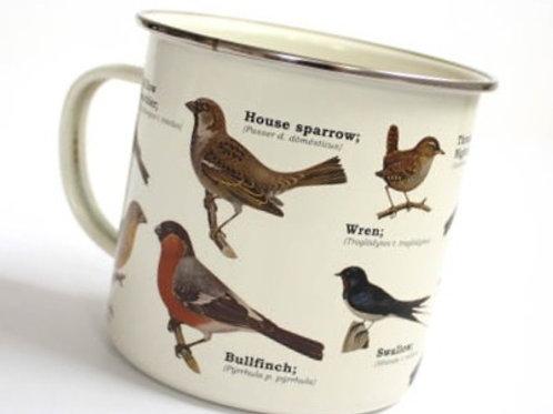 Birder Watchers Enamel Mug