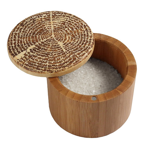 """Tree of Life"" Engraved Salt Box"