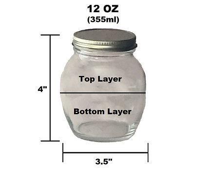 12 oz Customizable Jar - 2 Layer