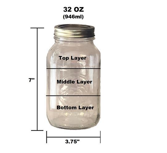 32 oz Customizable Jar - 3 Layer