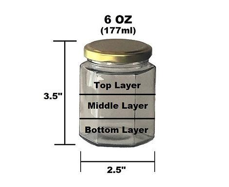 6 oz Customizable Candle - 3 Layer