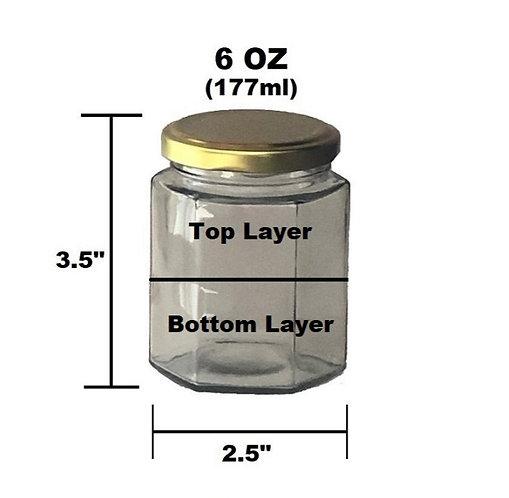 6 oz Customizable Candle - 2 Layer