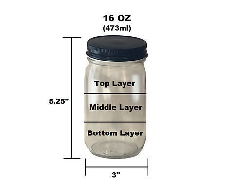 16 oz Customizable Jar - 3 Layer
