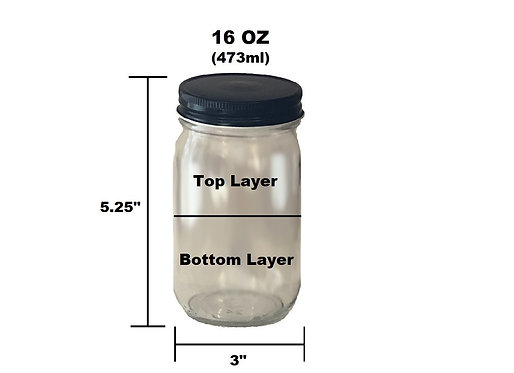 16 oz Customizable Jar - 2 Layer