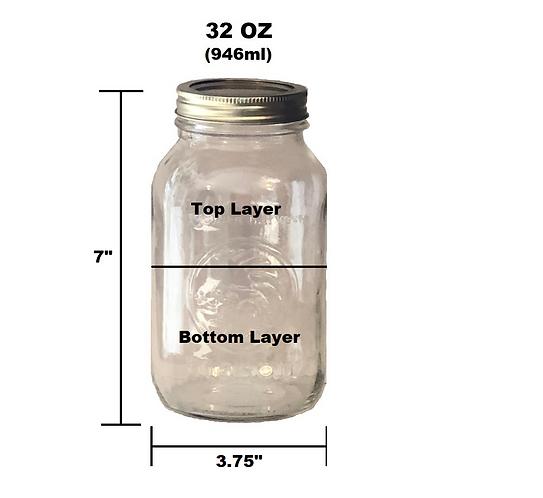 32 oz Customizable Jar - 2 Layer