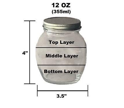 12 oz Customizable Jar - 3 Layer