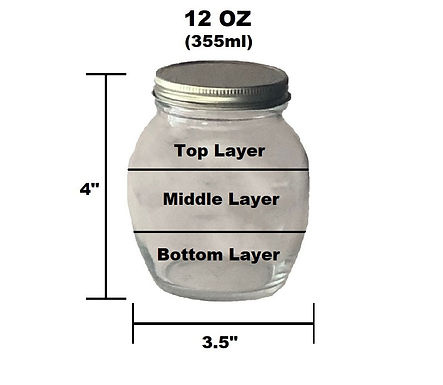 12 oz Customizable Jar - 3 Layer