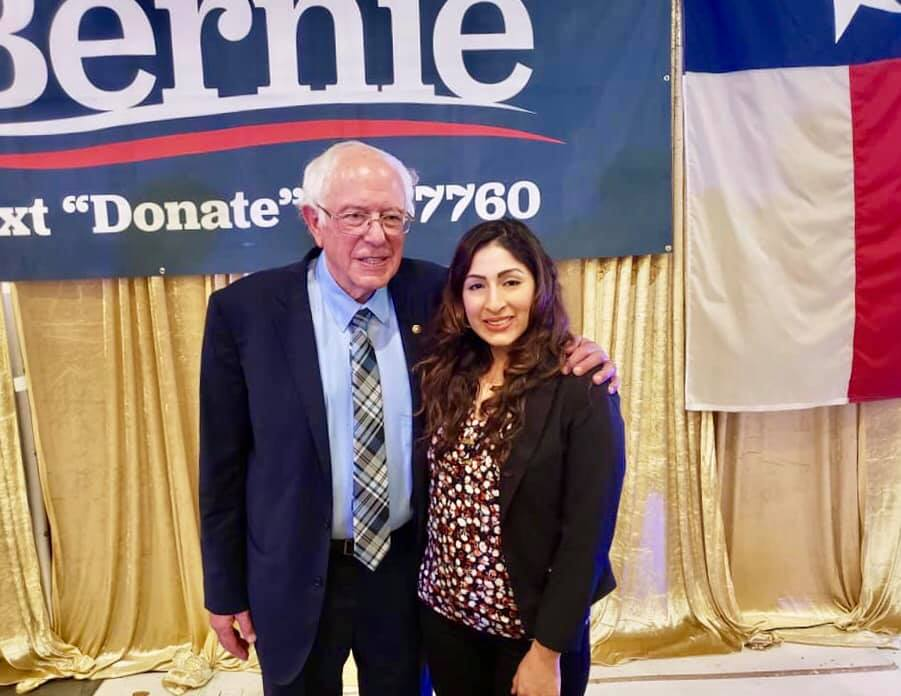 With Bernie Sanders at his Town Hall in Houston, TX