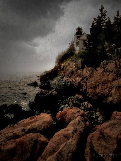 Bass Harbor Light in the Rain