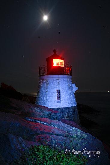 Castle Hill Light at Night