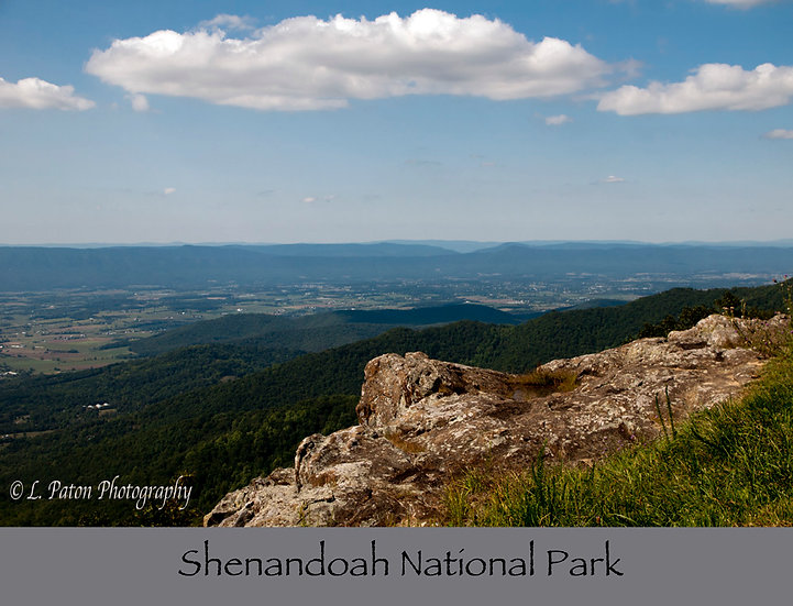 Shenandoah National Park print with text