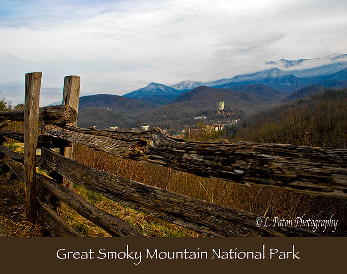 Great Smoky Mountains print with text