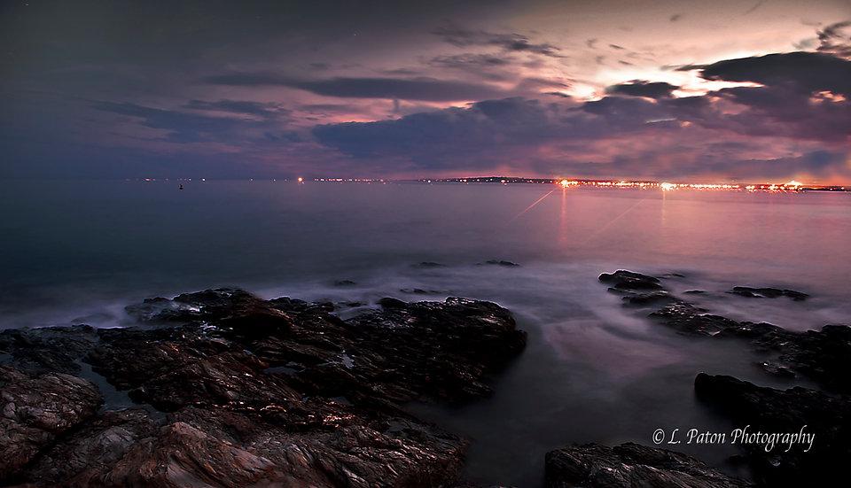 Twilight over Narragansett Bay