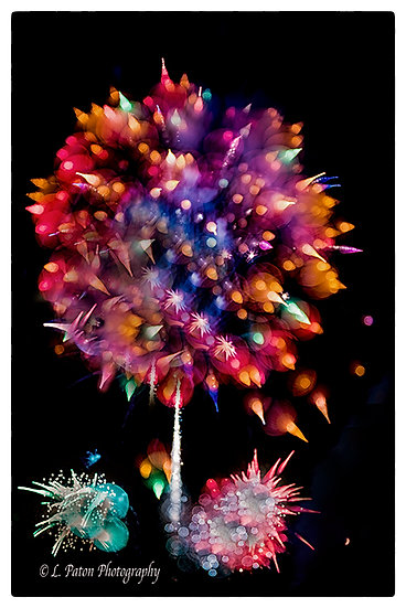 Abstract from fireworks 4
