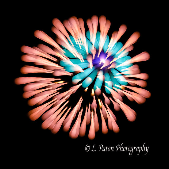 Abstract from fireworks 15