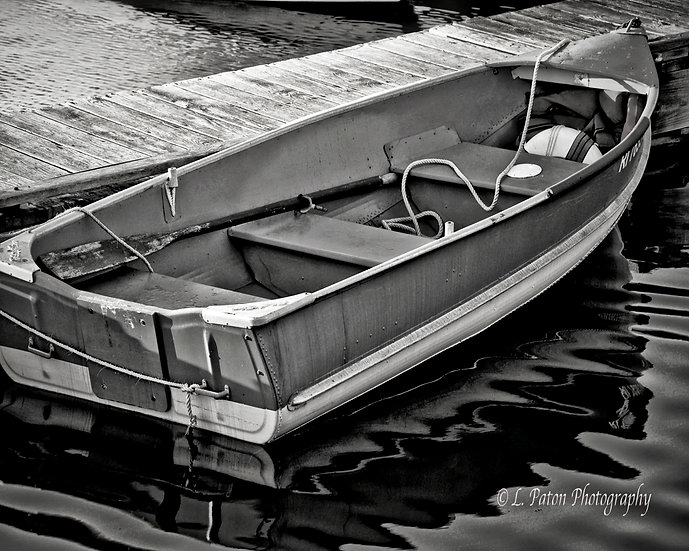 Black and white Row Boat