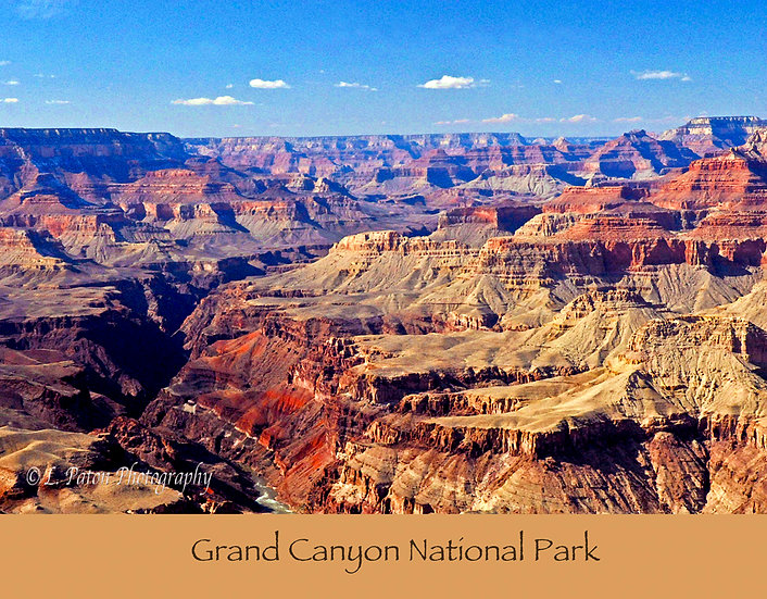 Grand Canyon print with text