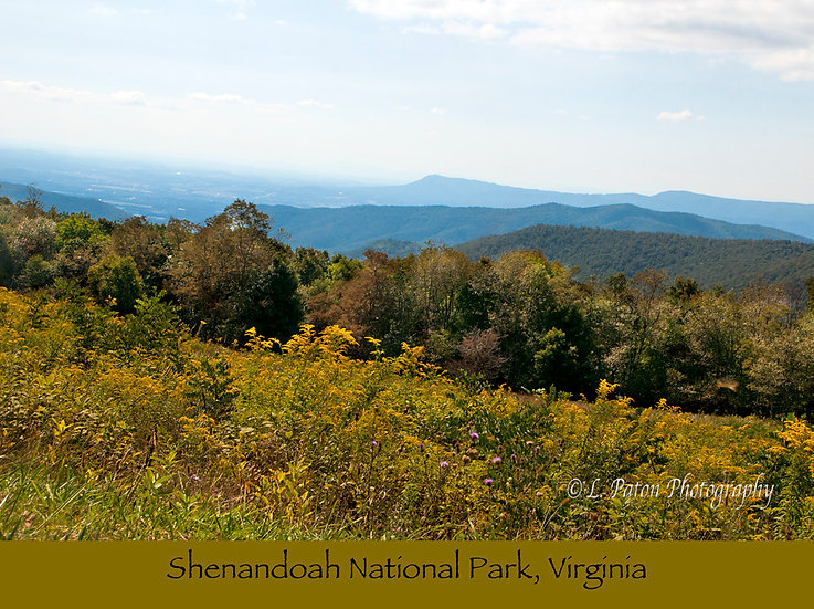 Shenandoah National Park print with text 2
