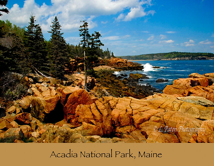 Acadia print with text