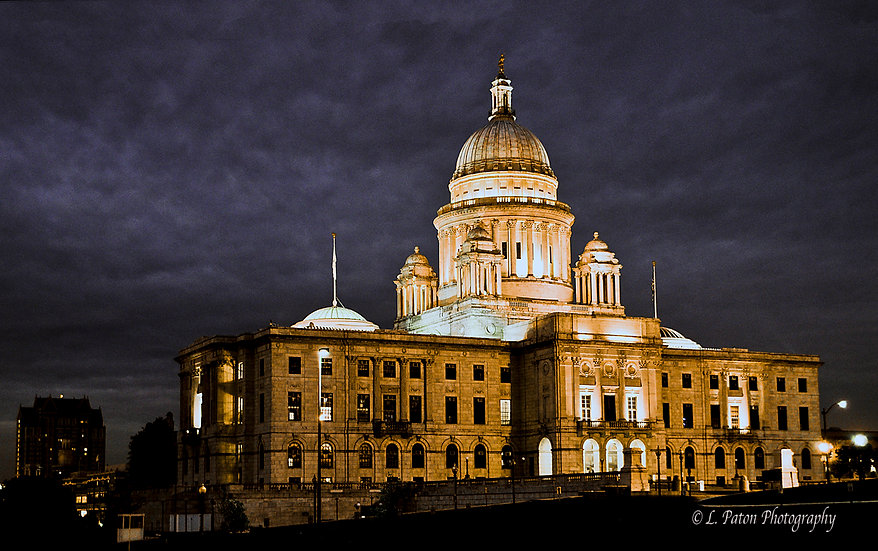 Rhode Island State House at Night