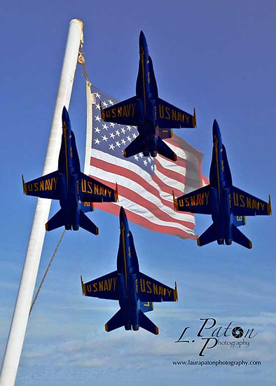 Blue Angels fly-by