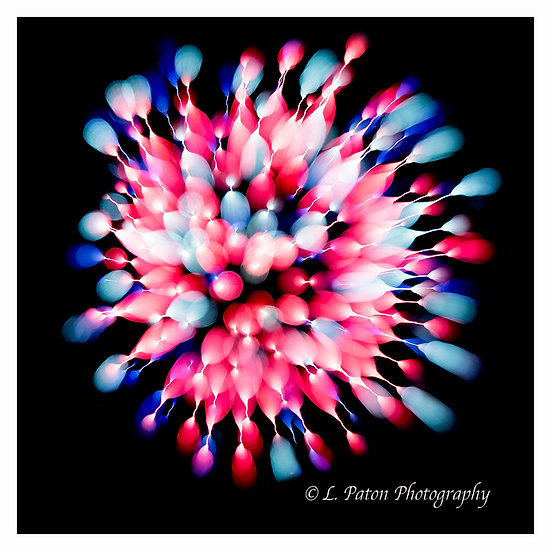 Abstract from fireworks 9