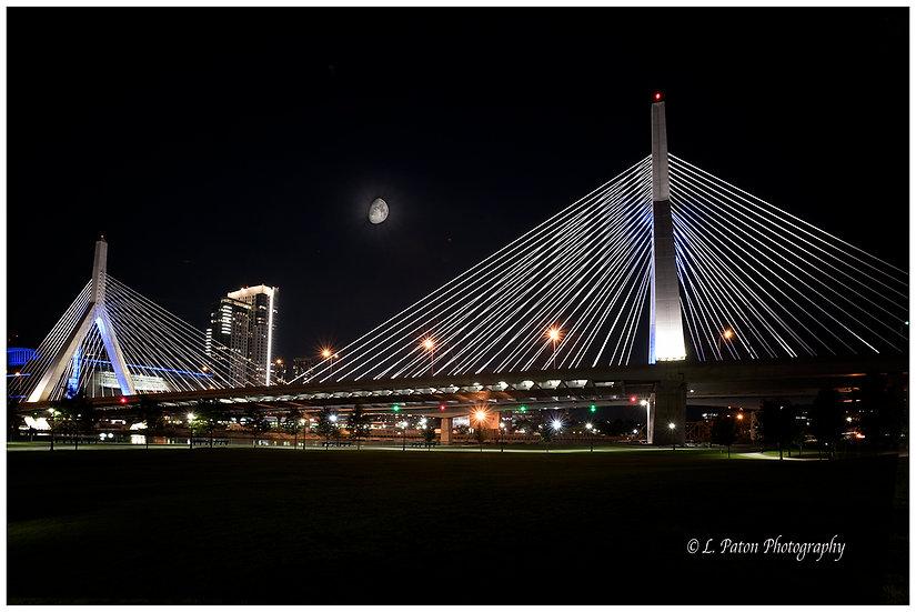 Zakim bridge by moonlight