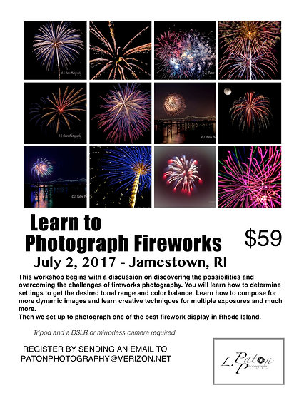 Learn to photograph Fireworks