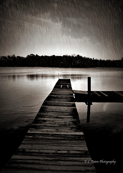 Hoffman dock in Rain