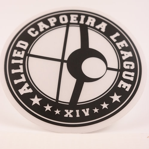 "Laptop Sticker - ACL 4"" Clear Sticker with Black Logo"