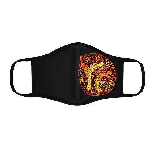 Capoeira Fitted Polyester Face Mask