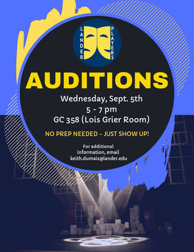 Fall 2018 Audition Announcement