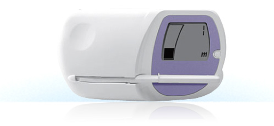 Clearblue Fertility Monitor pictured with test stick inserted.