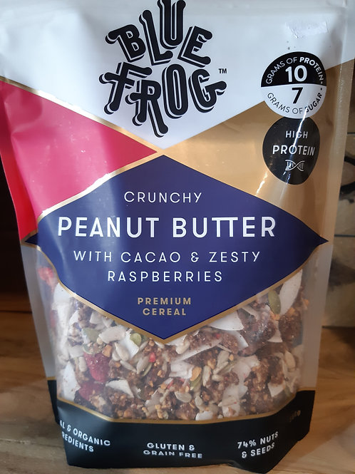 Blue Frog Cocao Peanut Butter and Raspberry Cereal