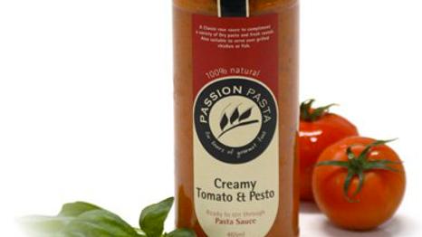 Passion Pasta Creamy Tomato & Pesto Sauce