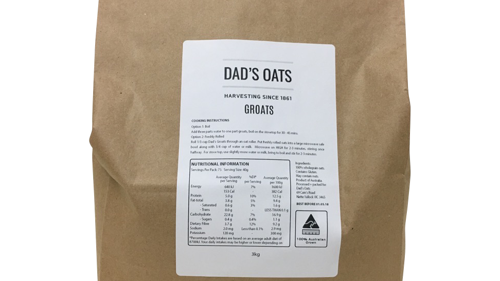 Dad's Groats 3kg