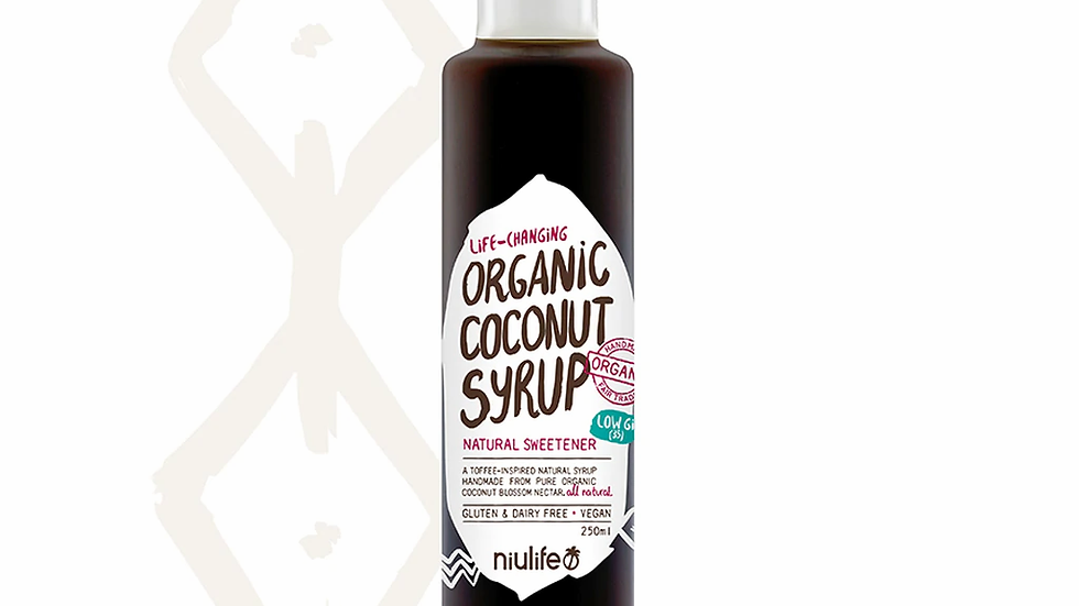Handmade Coconut Syrup - Certified Organic 250ml Bottle