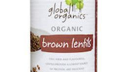Global Organics Brown Lentils 400 g Can