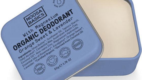 Organic Deodorant Cream with Magnesium / Bi-Carb Free