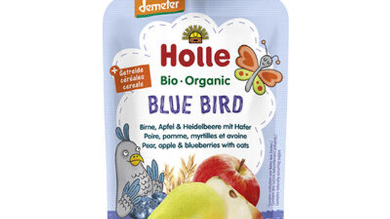 Holle Blue Bird - Pear, Apple & Blueberries with Oats 100g