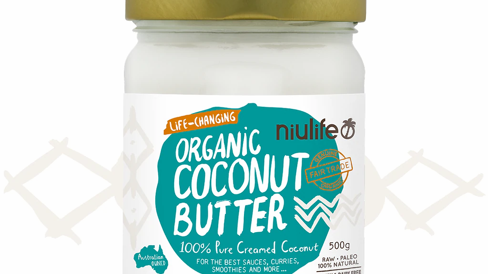 Coconut Butter - Certified Organic - 500g Glass Jar