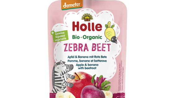 Holle Zebra Beet - Apple & Banana with Beetroot 100g