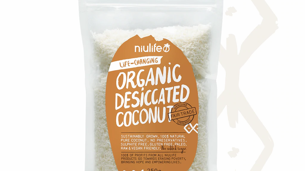 Desiccated Coconut - Certified Organic 250g Pouch