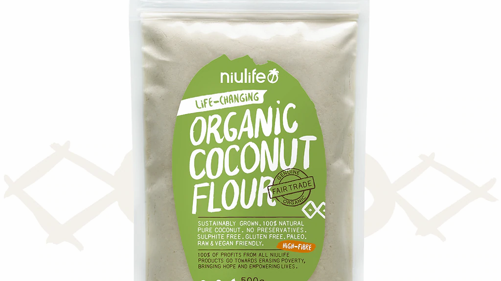 Coconut Flour - Certified Organic 500g Pouch