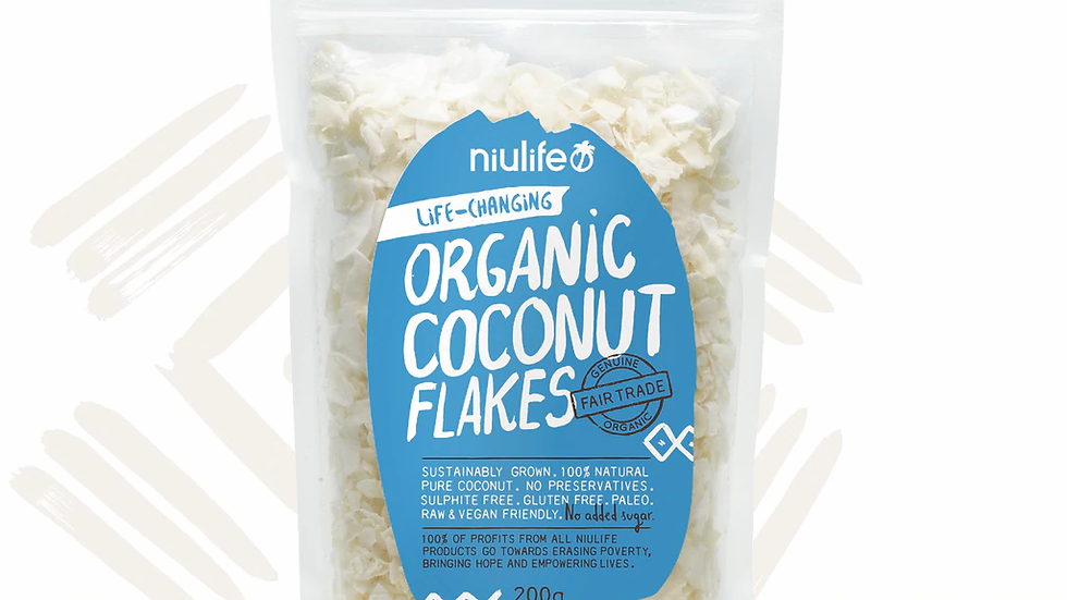 Coconut Flakes - Certified Organic 200g Pouch