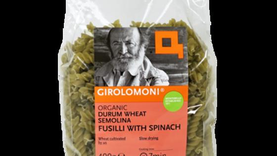 Girolomoni Durum Wheat Fusilli with Spinach 400g